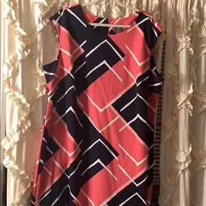Multi colored plus size dress